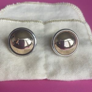 James Avery silver & gold earrings 1980's vintage